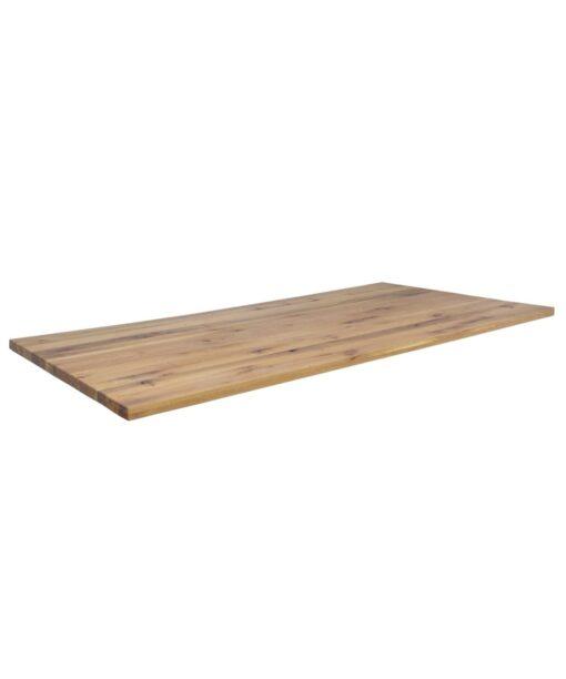 Tischplatte Tokyo - Massivholzplatte aus Wildeiche rustikal Stärke 6 cm