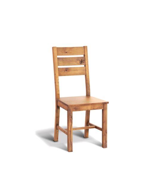 Holzstuhl Alf - Stuhl aus Wildeiche massiv