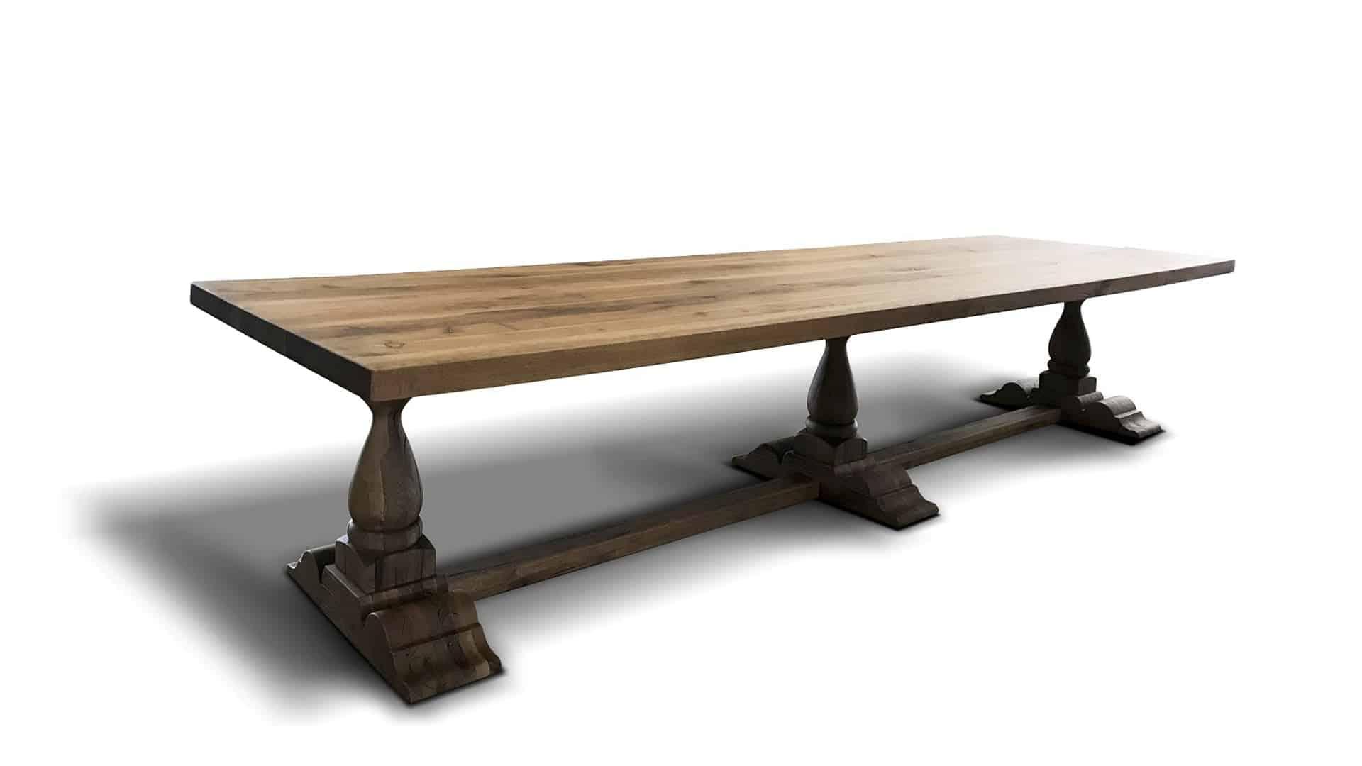 Esstisch Renaissance, Massivholztisch aus Wildeiche in 4m Länge