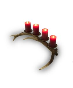 Tischkerzenständer Rotondo, 4-flammig aus echtem Hirschgeweih